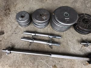 Weights w bar for Sale in Bothell, WA