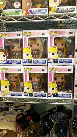 Sailor Moon and luna sailor venus sailor jupiter sailor Artemis funko pop for Sale in Temecula,  CA