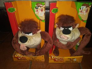 X2 Brand New Collectible Mattel Looney Tunes Rude Tude Taz for Sale in Hawthorne, CA