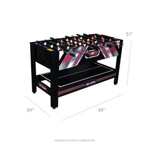 """Triumph 54"""" 5-in-1 Air Zone Swivel Multi-Game Table Includes Billiards, Air Hockey, Foosball, Table Tennis, and Archery for Sale in Houston, TX"""