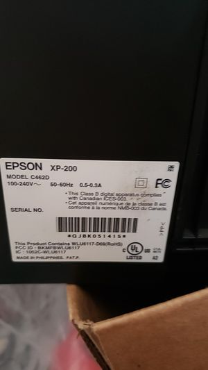 Epson xp200 printer/scanner for Sale in San Bernardino, CA