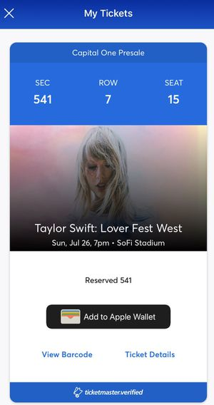 Taylor Swift: Lover Fest West Tickets for Sale in Hollywood, FL