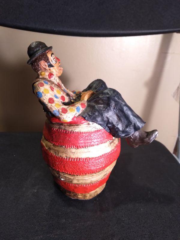 Rodeo clown hand made ceramic figurine