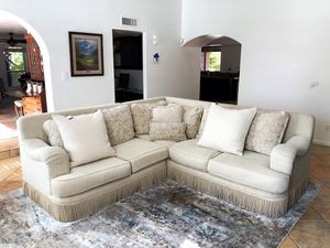 Gorgeous Down Filled Sectional w/ High back Design & Tassels for Sale in Scottsdale, AZ