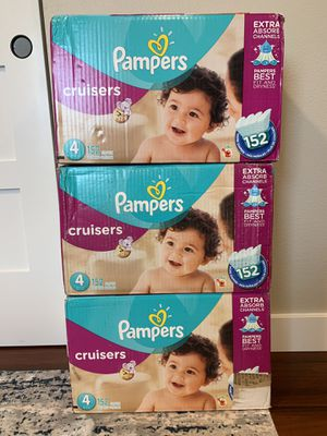 Pampers Cruisers size 4- 152 count for Sale in Everett, WA