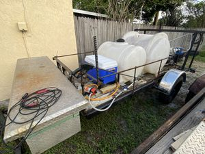 Utility Trailer 4 by 10 (equipment not included) No title for Sale in Lake Worth, FL
