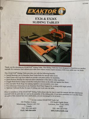 """Exaktor Sliding Table 18""""x77"""" for Sale in West Dundee, IL"""