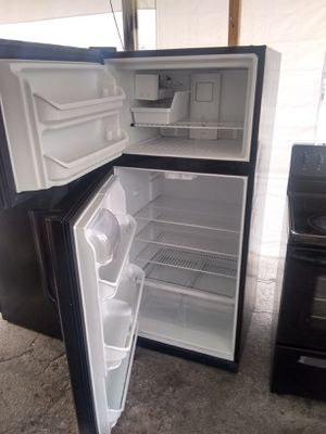 Refrigerator and electric stove all working perfect condition and two mount warranty$340 for Sale in Boca Raton, FL