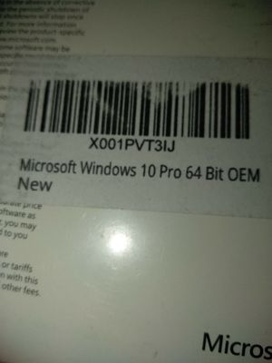 Windows 10PRO NEVER INSTALLED. ENGLISH for Sale in Azusa, CA