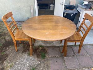 Drop leaf kitchen dining room table and 2 chairs for Sale in Glendora, CA