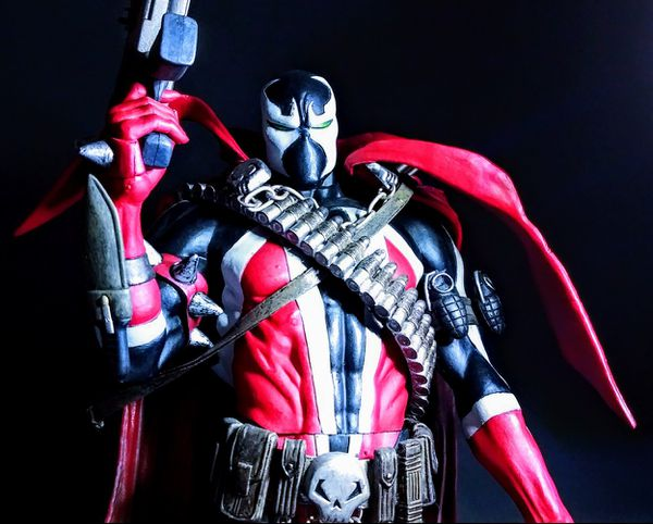 McFarlane Toys 12 inch Deluxe Spawn Issue 7 Cover Art Action Figure [Commando Spawn]
