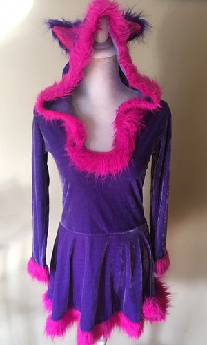Cheshire Cat Alice in Wonderland One piece Hooded Dress Adult Small 2-6 for Sale in Chicago, IL