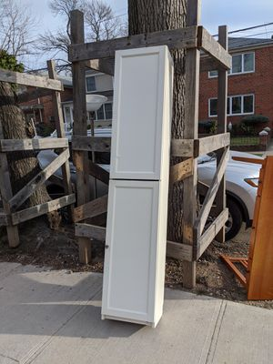 Curb alert desk and tall Ikea cabinet for Sale in Queens, NY