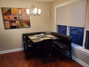 Kitchen table seats 8 counter height breakfast bench for Sale in Elmhurst, IL