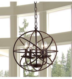 Warehouse of Tiffany D6606-5 Theo Rust Chandelier for Sale in Greenville, MS
