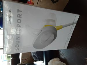 Bose Soundsport Wireless Earbuds. Grey and Yellow for Sale in Seattle, WA