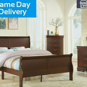 [HOT DEAL]Louis Philip Cherry Sleigh Bedroom Set byCrown Mark for Sale in Washington, DC