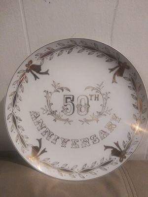 Vintage 50th anniversary plate for Sale in Powder Springs, GA