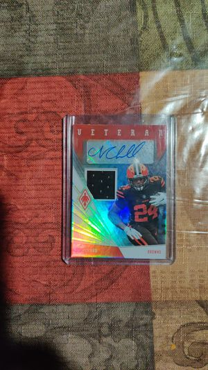 Nick chubb auto patch card for Sale in Palos Heights, IL