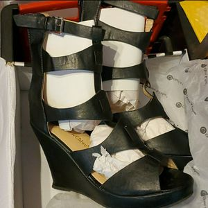 Black wedge heels for Sale in Oxon Hill, MD