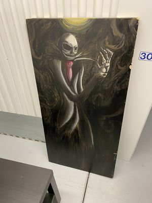 Hand painted Jack Skellington from Nightmare Before Christmas on wood. Pickup only. for Sale in Valrico, FL