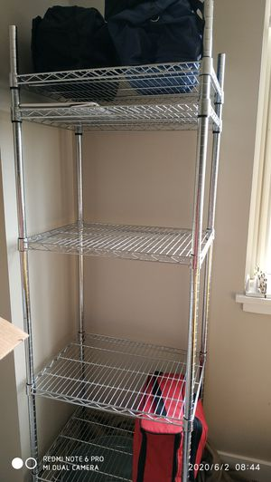 5 tier stainless shelving unit like new for Sale in Stamford, CT