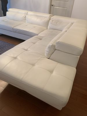 White leather look sectional sofa for Sale in Washington, DC