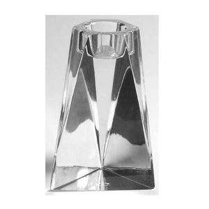"""Villeroy & Boch Crystal Prism Candle Holder 5"""" Triangle Signed Clear Glass for Sale in Silver Spring, MD"""