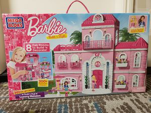 New Barbie Build 'n style luxury Mansion includes Barbie and Teresa for Sale in Clovis, CA