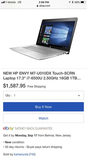HP Envy M7 NoteBook i7 16GB Ram for Sale in Dearborn, MI