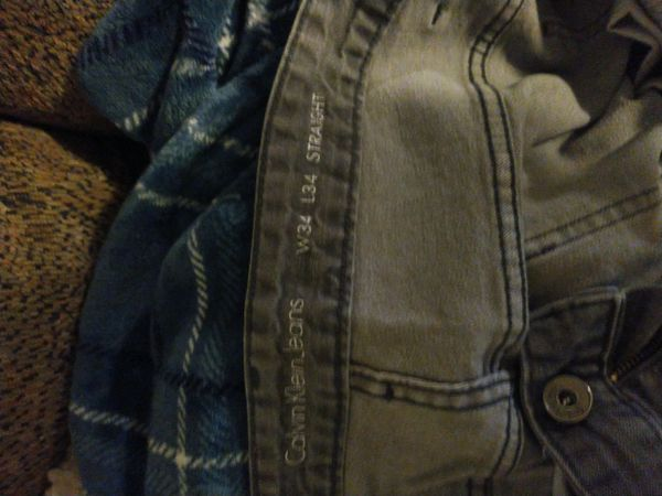 (2) pairs of nice jeans, (1) pair distressed black shorts