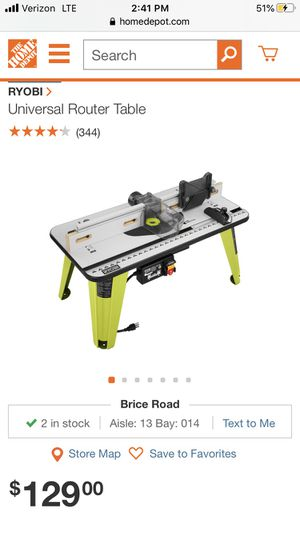 Ryobi Universal Router Table for Sale in Blacklick, OH