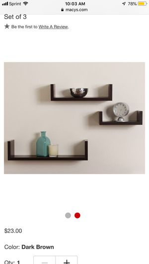 Black wood wall shelves for Sale in Ceres, CA