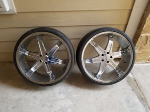 """24 """"Milanni Rims Bolt Pattern 5x120 (Needs New Tires) for Sale in McKinney, TX"""