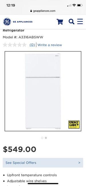 Top Freezer Refrigerator- GE Appliances for Sale in Benicia, CA