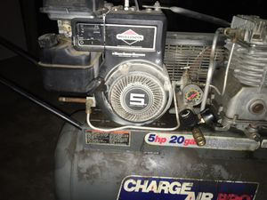 Air Compressor20ga 5HP Bridge and Stratton motor for Sale in Shreveport, LA