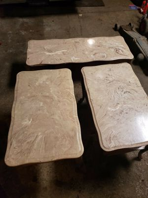 Marble Coffee an End Tables for Sale in Bedford, VA