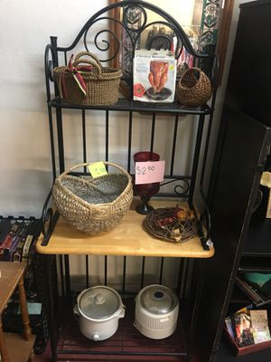 Metal and wood kitchen stand (black) for Sale in South Norfolk, VA