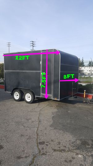 HEAVY DUTY ENCLOSED TRAILER DOUBLE AXLE for Sale in Los Angeles, CA