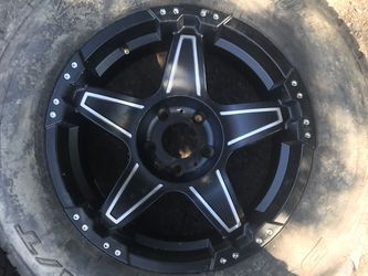 Jeep Wrangler wheels and tires. 5x120 for Sale in Auburn,  WA