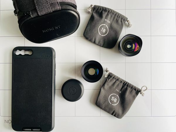 Moment lenses 58mm & 18mm + iphone case