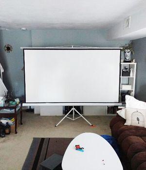 "Brand New $70 Tripod Stand 100"" Projector Screen 16:9 Ratio Projection Home Theater Movie for Sale in Pico Rivera, CA"
