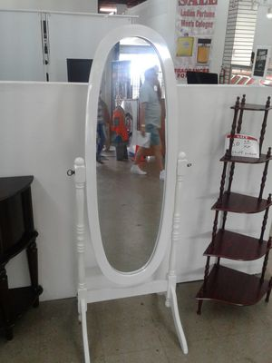 Lovely, NEW stand alone mirror. Available In white or cherry for Sale in West Park, FL