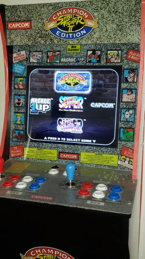Arcade 1UP Street Fighter Game with Riser Stand for Sale in Hawthorne, CA
