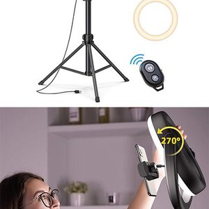 """(NEW) $45 LED 10"""" Selfie Ring Light w/ 67"""" Tripod Stand & Phone Holder for Makeup/Video/Photo for Sale in Whittier, CA"""
