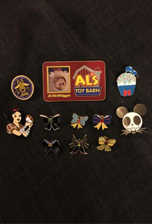 Disney Enamel Pins - Set of 11 for Sale in Gardena, CA