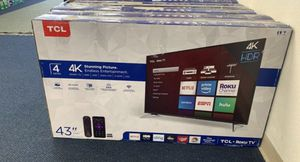 "43"" TcL roku Smart 4K led uhd hdr tv for Sale in Chula Vista, CA"