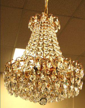 Austrian Swarovski crystals gold plated frame chandelier H26xW24 in for Sale in Chandler, AZ