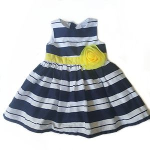 Baby Girl Carter's Striped Flower SDress- 6 Months for Sale in East Hartford, CT