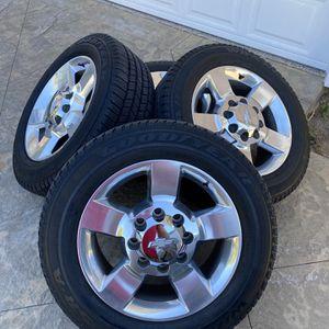 "Chevy Silverado 2500 Duramax Rims 8 X 180 Lug 20"" Rim Goodwear Wrangler Tires Perfect Condition for Sale in Yorba Linda, CA"